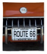 Route 66 Corvette Grill Fleece Blanket