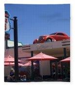 Route 66 Cruisers Williams Arizona Fleece Blanket