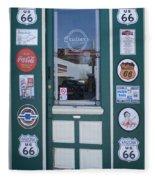 Route 66 Doorway Fleece Blanket