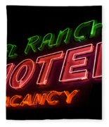 Route 66 El Rancho Fleece Blanket