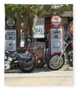 Route 66 Gas Pumps Fleece Blanket