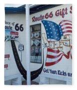 Route 66 Gift Shop Fleece Blanket