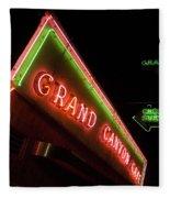 Route 66 Grand Canyon Neon Fleece Blanket