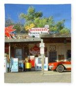 Route 66 Hackberry Arizona Fleece Blanket