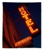 Route 66 Hotel Williams Fleece Blanket