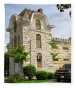 Route 66 - Macoupin County Jail Fleece Blanket