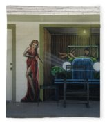 Route 66 Motel Arizona Fleece Blanket
