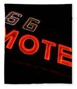 Route 66 Motel Neon Fleece Blanket