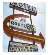 Route 66 Motel Sign 1 Fleece Blanket