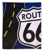 Route 66 Sign Winslow Arizona Fleece Blanket