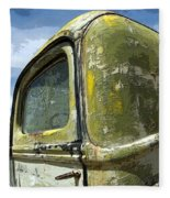 Route 66 Vintage Truck Fleece Blanket