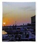 Rovinj Sunset Fleece Blanket