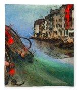 Rovinj The Ancient Adriatic City Fleece Blanket