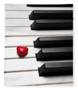 Row Of Piano Keys Fleece Blanket