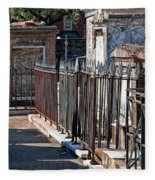 Row Of Tombs St Louis One Cemetery New Orleans Fleece Blanket