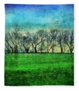 Row Of Trees Fleece Blanket