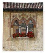 Row Of Windows In Treviso Italy Fleece Blanket