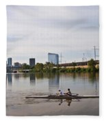 Rowing The Schuylkill Fleece Blanket