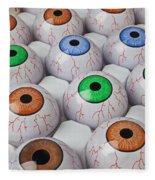 Rows Of Eyeballs Fleece Blanket