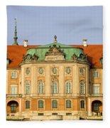 Royal Castle In Warsaw Fleece Blanket