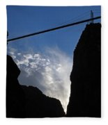 Royal Gorge Bridge And Sky Fleece Blanket