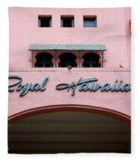 Royal Hawaiian Hotel Entrance Arch Fleece Blanket