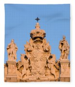 Royal Palace In Madrid Architectural Details Fleece Blanket