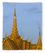 Royal Palace Roof. Fleece Blanket