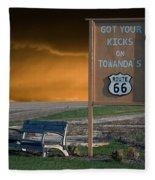 Rt 66 Towanda Signage Fleece Blanket