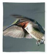 Ruby-throated Hummingbird - Hover Fleece Blanket