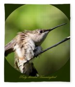 Ruby-throated Hummingbird  - The Stretch Fleece Blanket