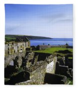 Ruins Of A Fort, Charles Fort, County Fleece Blanket