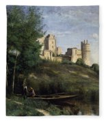 Ruins Of The Chateau De Pierrefonds Fleece Blanket
