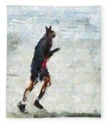 Run Rabbit Run Fleece Blanket