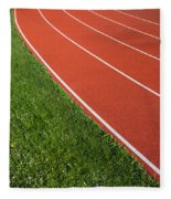 Running Track Fleece Blanket