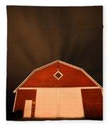 Rural Barn Night Photograhy Fleece Blanket