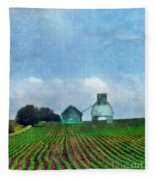 Rural Farm Fleece Blanket
