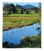 Rural Landscape After Rain Fleece Blanket