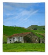 Rural Landscape Fleece Blanket