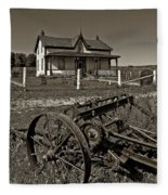 Rural Ontario Sepia Fleece Blanket