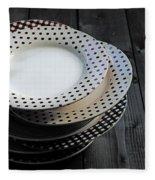 Rural Plates Fleece Blanket