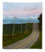 Rural Road Fleece Blanket