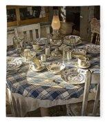 Rural Table Setting For Four No.3121 Fleece Blanket