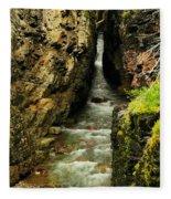 Rushing Through The Chasm Fleece Blanket