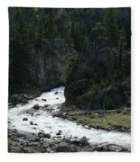 Rushing Thru The Mountains Fleece Blanket