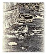 Rushing Water Cream Fleece Blanket