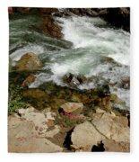 Rushing Water Glen Alpine Creek  Fleece Blanket