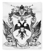 Russia: Coat Of Arms Fleece Blanket