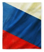Russia Flag Fleece Blanket