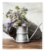 Russian Blue 03 Fleece Blanket